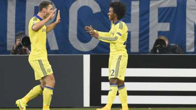 Willian Branislav Ivanovic FC Schalke 04 FC Chelsea Champions League 25112014