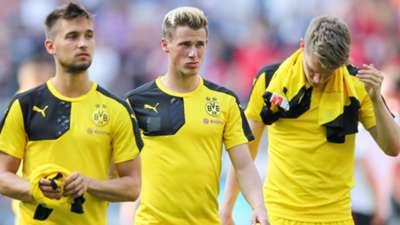 Erik Durm Moritz Leitner Matthias Ginter Borussia Dortmund BVB