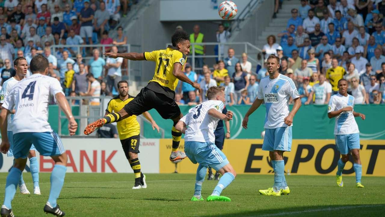 Pierre-Emerick Aubameyang Borussia Dortmund DFB Pokal 09082015