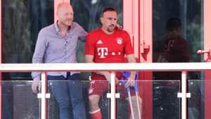 FC Bayern München First Training 15/16 150701 Matthias Sammer Franck Ribery