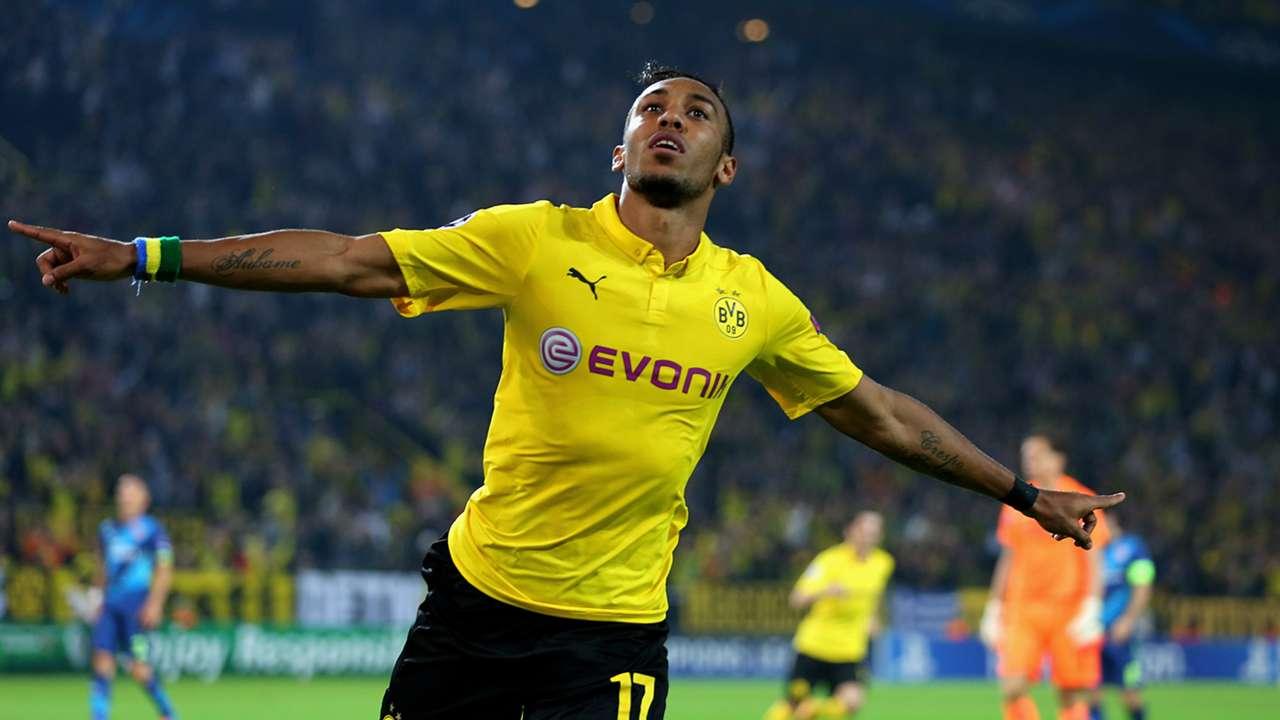 Pierre-Emerick Aubameyang Dortmund v Arsenal 09162014