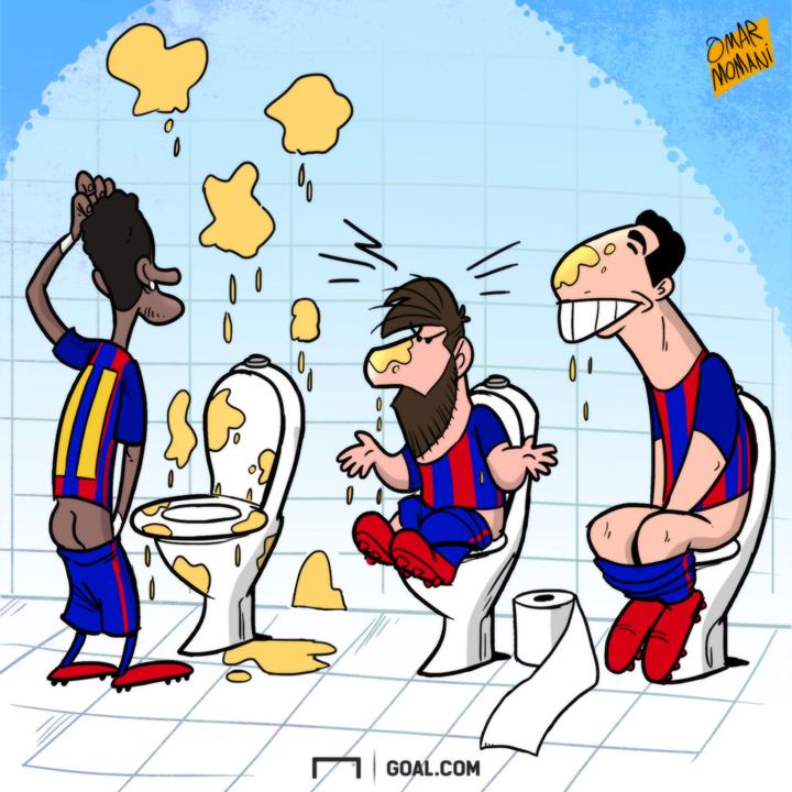 Cartoon Pee Messi