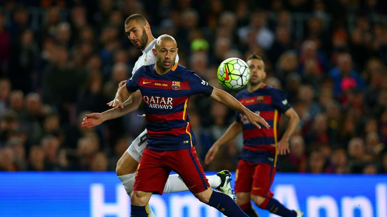 Javier Mscherano FC Barcelona Real Madrid 02042016