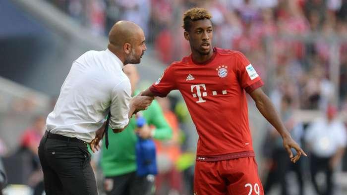 Pep Guardiola Kingsley Coman FC Bayern München FC Augsburg Bundesliga 12092015
