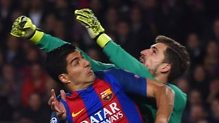 Luis Suarez Kevin Trapp Barcelona PSG UEFA Champions League 08032016