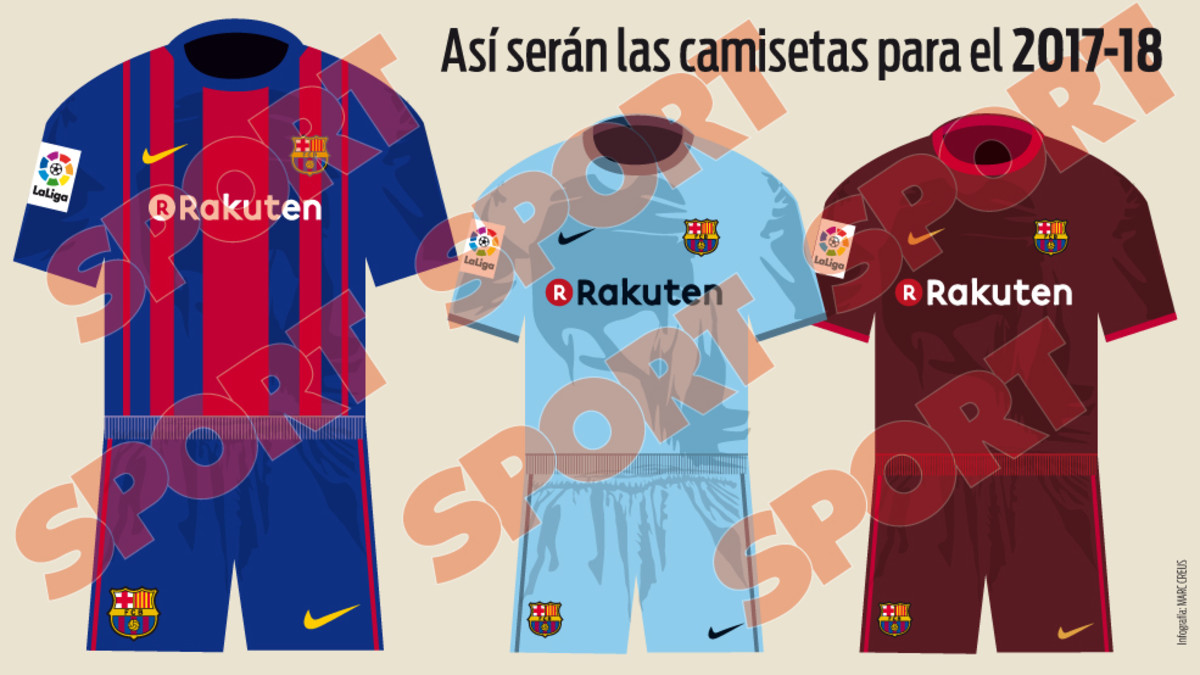 quality design a232e bcced REVEALED: The Barcelona kits Messi and Neymar will be ...