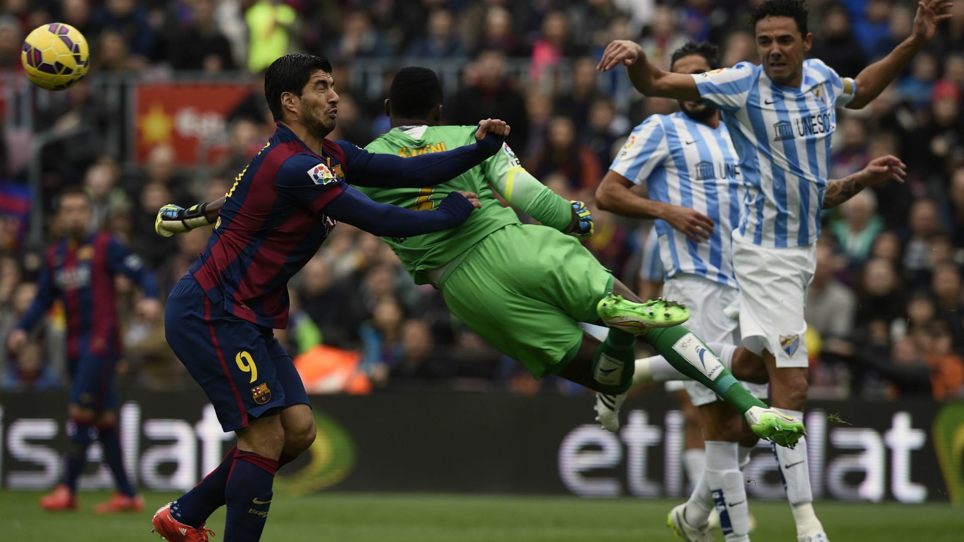 Luis Suarez Carlos Kameni Barcelona Malaga La Liga