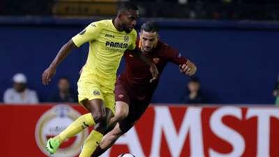 Cedric Bakambu Kostas Manolas Villarreal Roma Europa League 16022017
