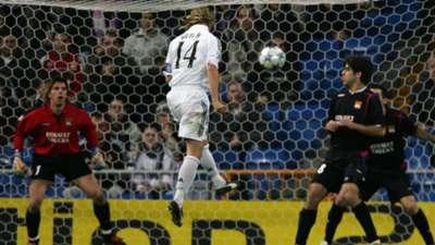 Guti Real Madrid Olympique Lyon Champions 2005