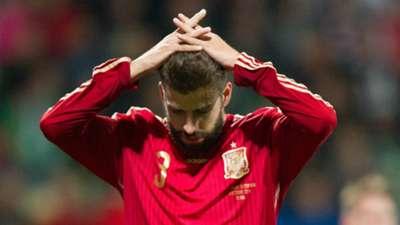 Gerard Pique Slovakia Spain Euro 2016 Qualifier
