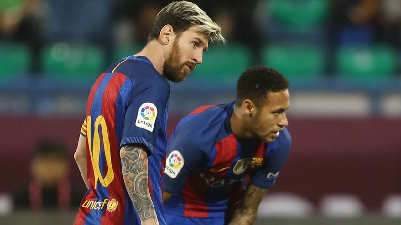 Messi Neymar Al Ahli Barcelona Friendly