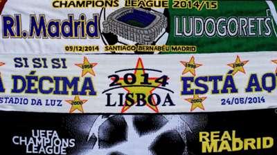 Scarves Real Madrid Ludogorets UEFA Champions League 12092014