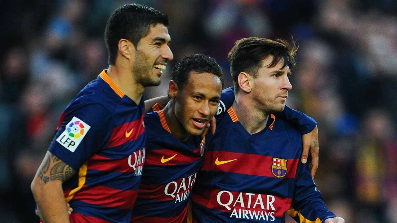 Luis Suarez Neymar Leo Messi Barcelona Real Sociedad La Liga 28112015