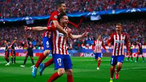 Saul Niguez Antoine Griezmann Madrid Bayern Munich 270416