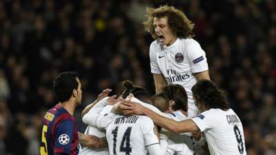David Luiz Barcelona PSG UEFA Champions League 12102014