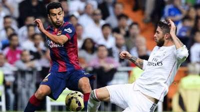Pedro Rodríguez Sergio Ramos Real Madrid Barcelona El Clasico La Liga 10252014