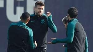 Gerard Pique Barcelona training session