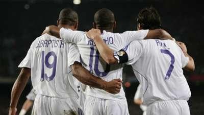 Julio Baptista Robinho Raul Gonzalez Real Madrid 2007-2008