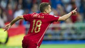 Jordi Alba Spain Slovakia Euro Qualifier