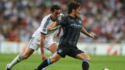 David Silva Alvaro Arbeloa Real Madrid Manchester City 09182012