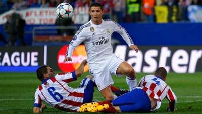 Koke Cristiano Ronaldo Mario Suarez Atletico de Madrid Real Madrid Champions League 04142015