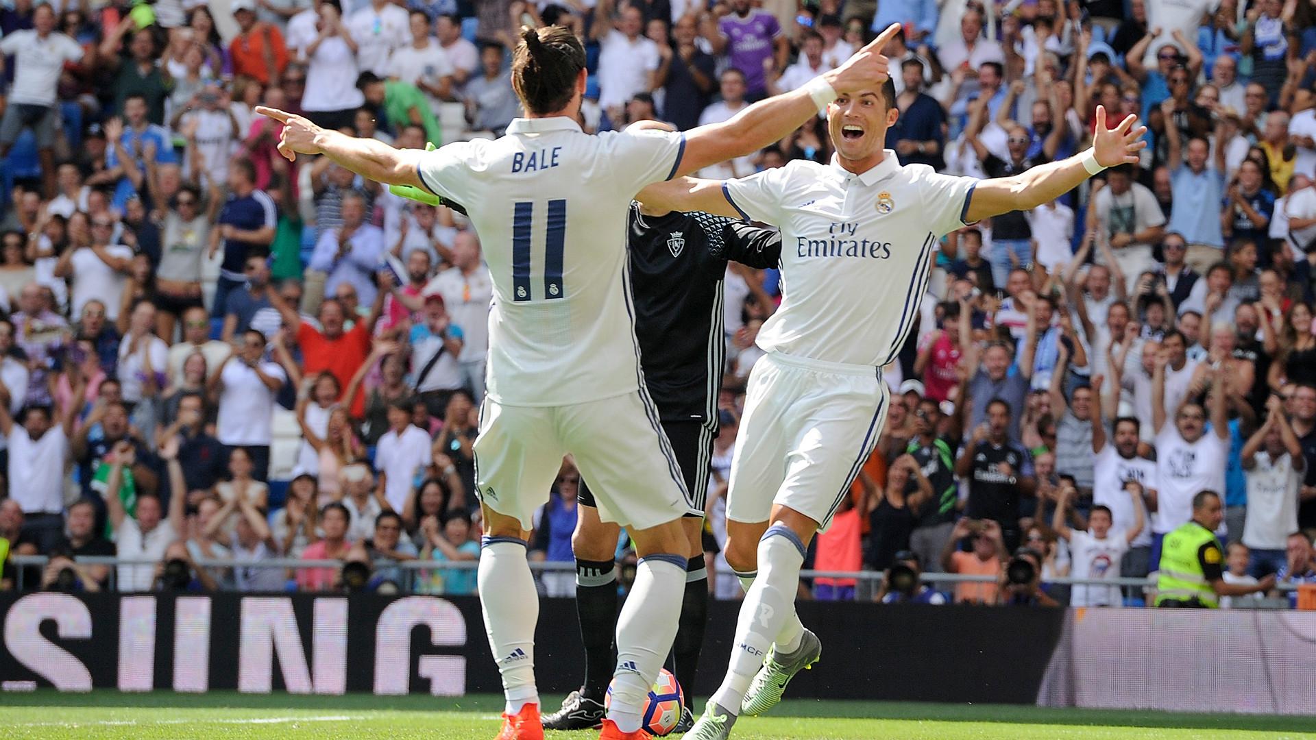 Gareth Bale Cristiano Ronaldo Real Madrid Osasuna LaLiga