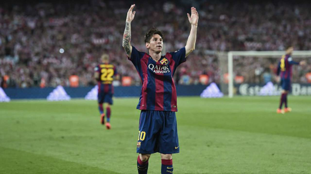 Lionel Messi Athletic Barcelona Copa del Rey