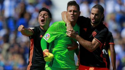 Diego Alves Mario Suarez Enzo Perez Leganes Valencia La Liga