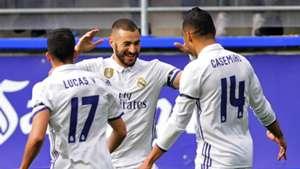 Karim Benzema Lucas Vazquez Casemiro Eibar Real Madrid LaLiga 04032017