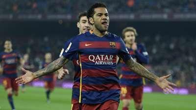 Dani Alves Barcelona Villanovense Copa del Rey
