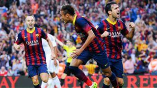 Neymar Andres Iniesta Cesc Fabregas Barcelona Real Madrid La Liga 10262013