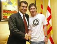 Lionel Messi Laporta Barcelona