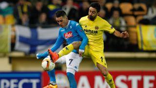Jaume Costa Jose Maria Callejon Villarreal Napoli Europa League