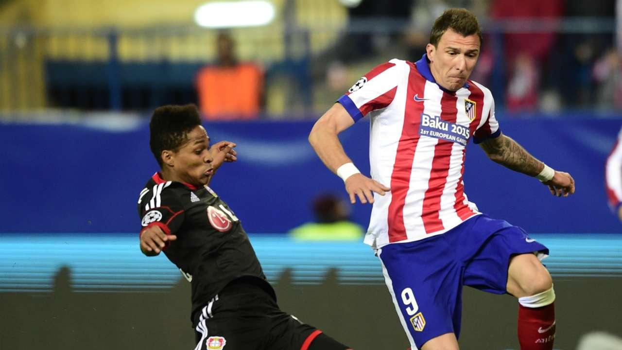 Wendell Mario Mandzukic Atletico de Madrid Bayer Leverkusen Champions League 03172015