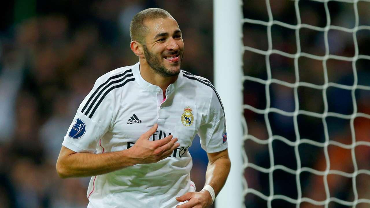 Karim Benzema Real Madrid Liverpool UEFA Champions League 11042014