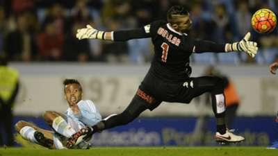 Ivan Cuellar Theo Bongonda Celta de Vigo Sporting Gijon La Liga 28112015