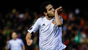 Dani Parejo Valencia Rapid Wien UEFA Europa League 18022016