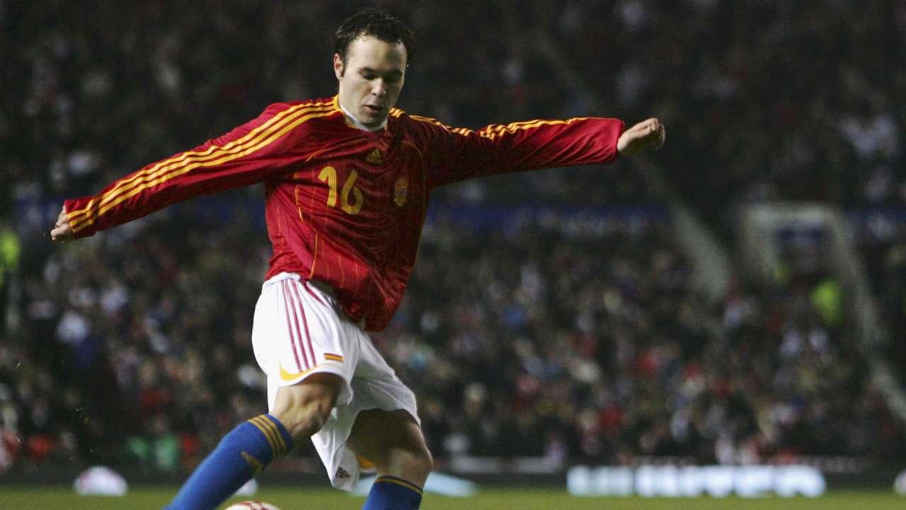 Iniesta Inglaterra España 2007