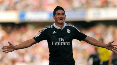 James Rodriguez Granada Real Madrid La Liga 11012014
