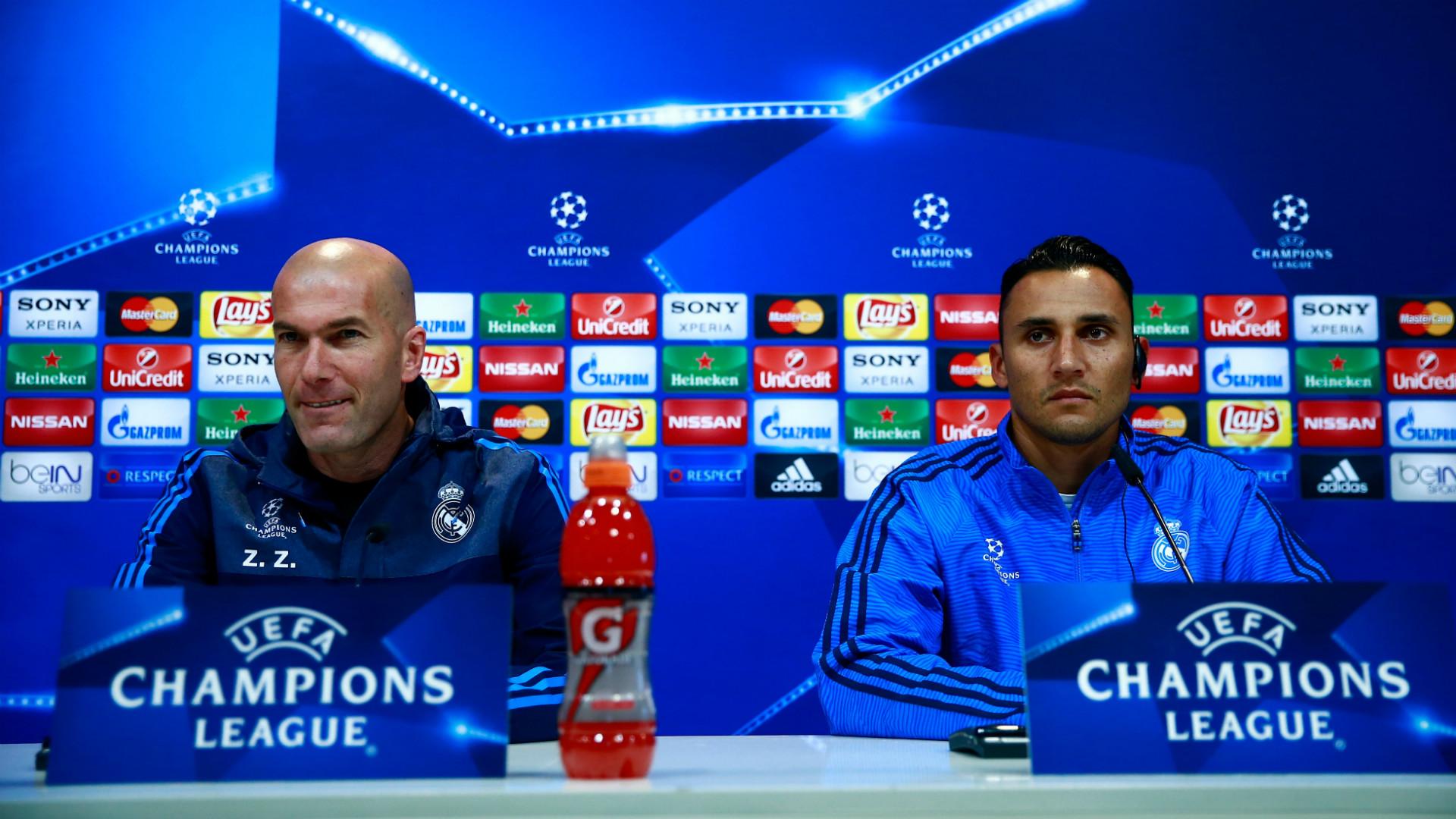 Zinedine Zidane Keylor Navas Real Madrid press conference