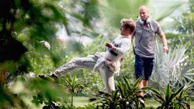 Nico Rosberg playing football