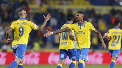 Las Palmas celebrates Las Palmas Celta La Liga
