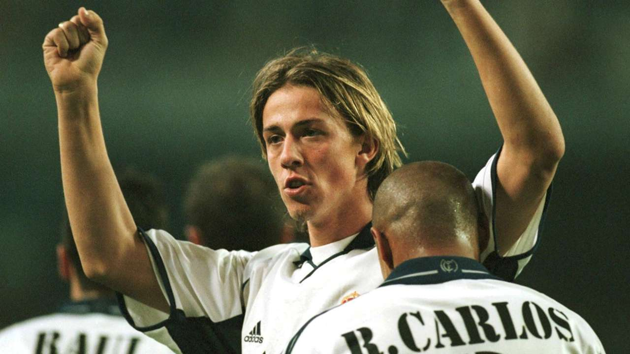 Guti Roberto Carlos Real Madrid 2000-2001