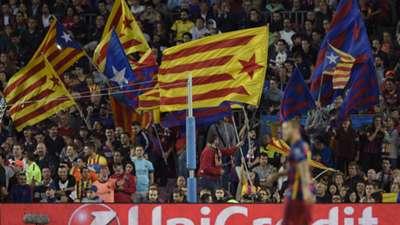 Barcelona Catalunya flags