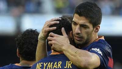 Neymar Luis Suarez Barcelona Real Sociedad La Liga 28112015
