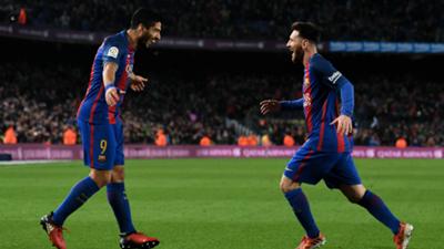 Luis Suarez Lionel Messi Barcelona Espanyol La Liga
