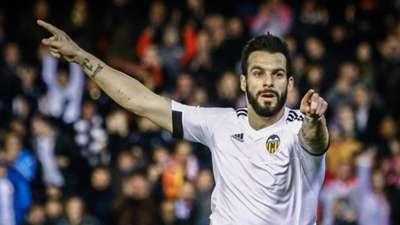Alvaro Negredo Valencia Rapid Wien UEFA Europa League 18022016