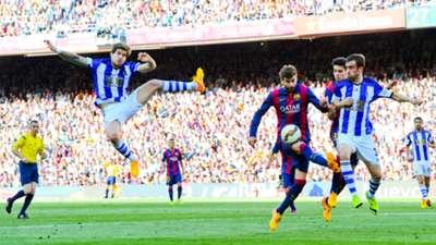 Gerard Pique Barcelona Real Sociedad Liga BBVA 05092015