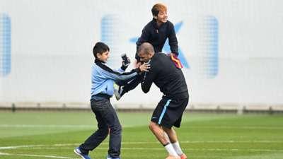 Barcelona Champions League training kids