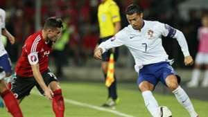 Cristiano Ronaldo Thaulant Xhaka Albania Portugal UEFA Euro Qualifiers 07092015